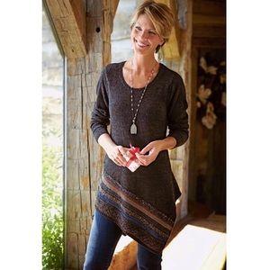 Soft Surroundings Asymmetric Wool Tunic Sweater M